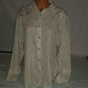 Cruel & Wrangler Long Sleeve Button Down Shirts XL